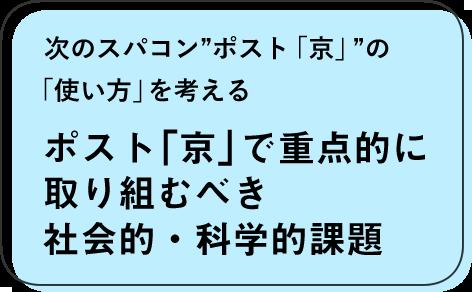 """次のスパコン""""ポスト「京」""""の「使い方」を考える ポスト「京」で重点的に取り組むべき社会的・科学的課題"""